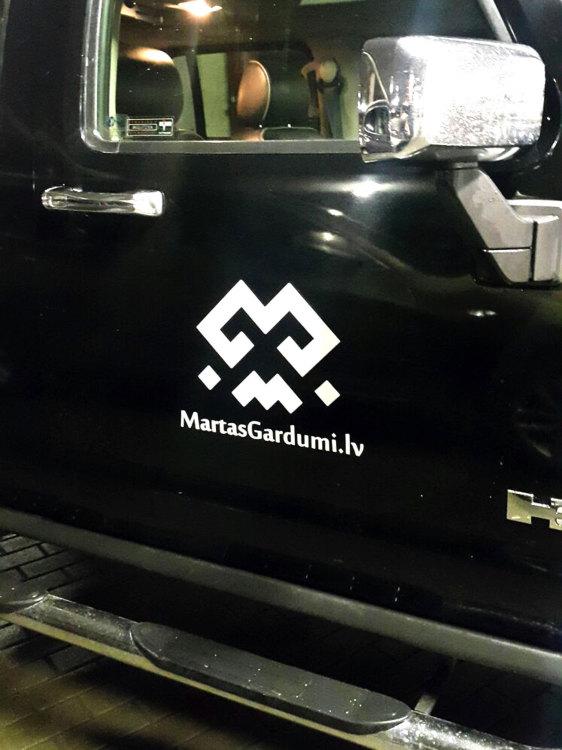 Auto uzlīmes Martas Gardumi